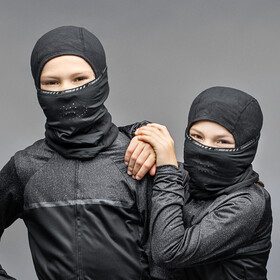 GripGrab Balaclava Bivakmuts Kinderen, black